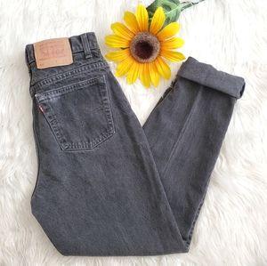 Levi 521 Vintage Black Tapered Straight Mom Jeans